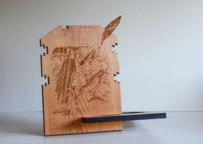 laser design wood native eagle bird