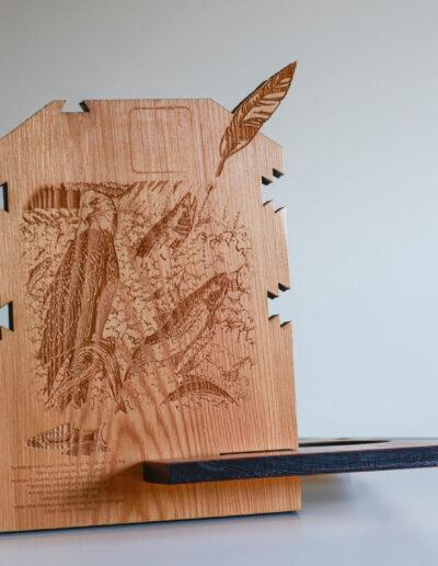 laser design wood native eagle bird